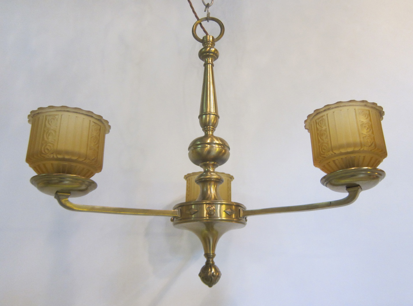 Three arm ceiling light exeter antique lighting company for Lights company