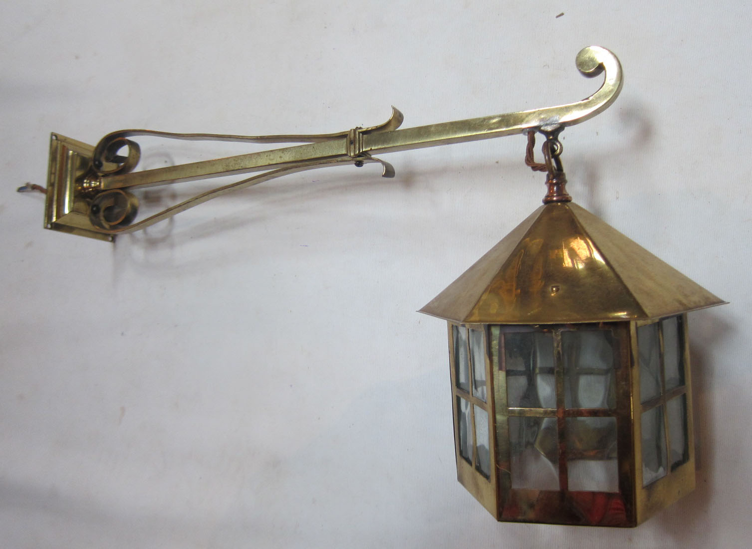Large Bulb Wall Lights : Large pair of wall lights - Exeter Antique Lighting Company