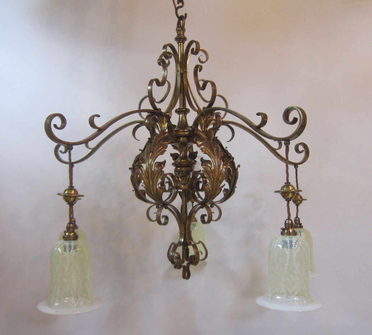 Large Five Arm Ceiling Light Exeter Antique Lighting Company