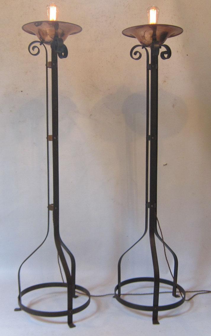 Pair Of Birmingham Guild Floor Lamps
