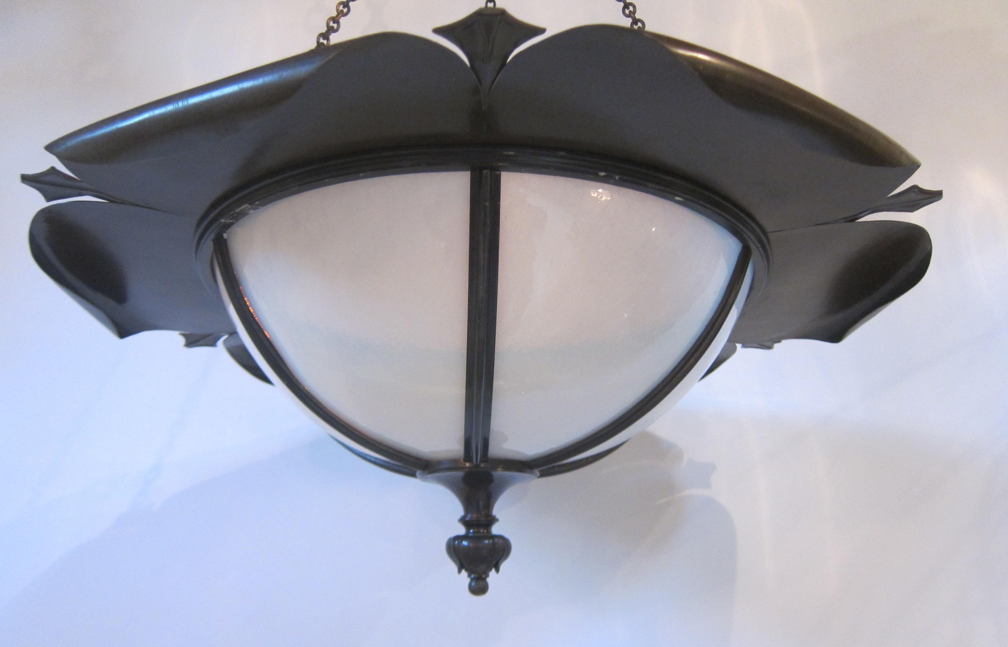 Ceiling Light In The Style Of Was Benson & Benson Lighting - Democraciaejustica