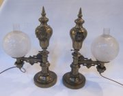 Pair of Argand lights
