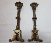 Pair of Gothic candlesticks