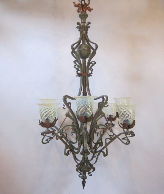 Eight arm ceiling light