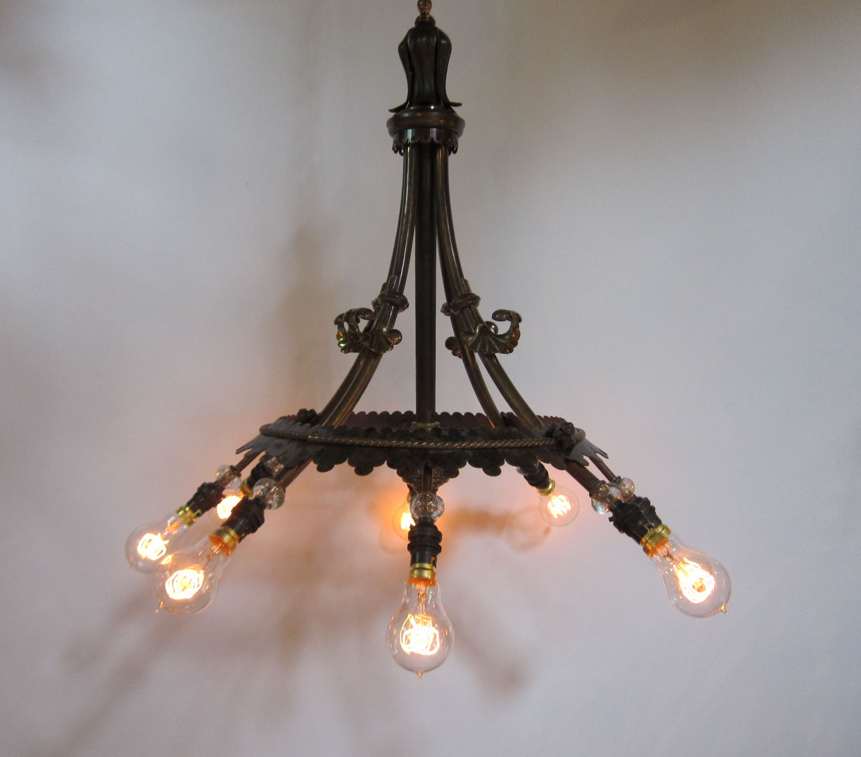 Pair Of Eight Arm Gothic Ceiling Lights