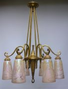 French six arm ceiling light
