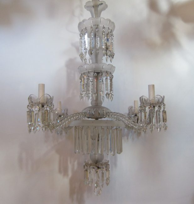 English four arm chandelier